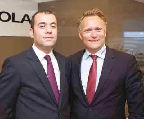 Autorola Türkiye Genel<br />Müdürü Oğuzhan SAYGI<br />ve Autorola CEO'su<br />Peter GRØFTEHAUGE,