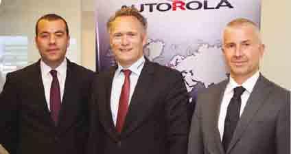 Autorola Türkiye Genel Müdürü Oğuzhan SAYGI ve Autorola CEO'su Peter GRØFTEHAUGE ve TOKKDER Genel Koordinatörü Tolga ÖZGÜL