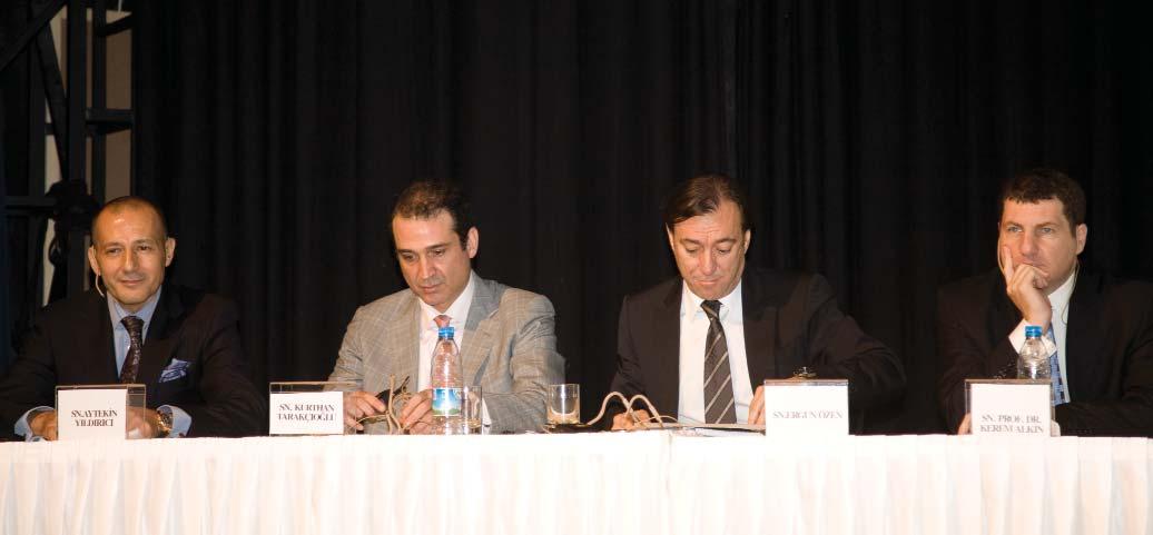 Aytekinhan Yıldırıcı, Kurthan Tarakçıoğlu, Ergun Özen ve Prof. Dr. Kerem Alkin